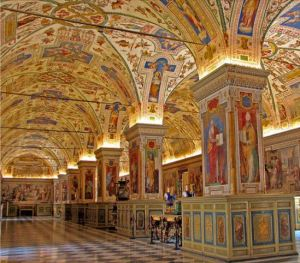 Picture Gallery Hall in the Vatican Library